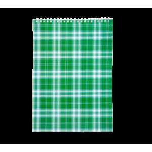 Блокнот А4 48 л клетка на спирали сверху обл. картон зеленый Buromax (BM.2460-04)