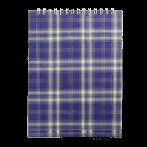 Блокнот А5 48 л клетка на спирали сверху обл. картон синий Buromax (BM.2470-02)