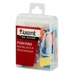 Кнопки-гвоздики цветные 30 шт Axent Флажки (4215-A)