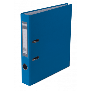 Регистратор 5 см А4 Buromax Lux 1стор покрыт, метал окант, светло-синий (BM.3012-30c)