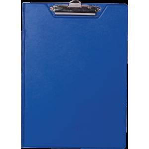 Папка-планшет с верхним зажимом ПВХ (А4) BuroMax (клипборд) темно-синяя (BM.3415-03)