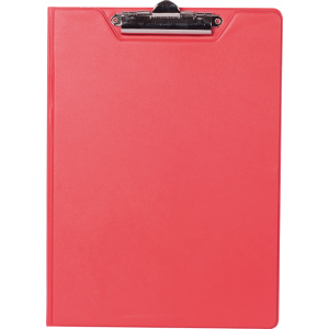 Папка-планшет с верхним зажимом ПВХ (А4) BuroMax (клипборд) красная (BM.3415-05)