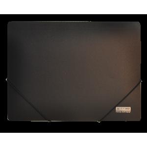Папка на резинках пластик (А4) Buromax Jobmax черный (BM.3911-01)