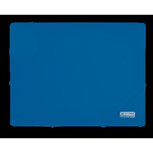 Папка на резинках пластик (А4) Buromax Jobmax синий (BM.3911-02)