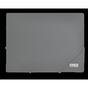 Папка на резинках пластик (А4) Buromax Jobmax серый (BM.3911-09)