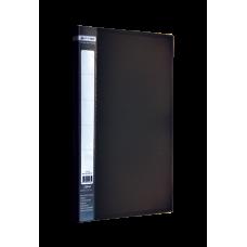 Папка с боковым зажимом пластик (A4) Buromax JOBMAX  черная (BM.3401-01)