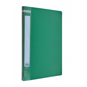 Папка с боковым зажимом пластик (A4) Buromax JOBMAX зеленая (BM.3401-04)