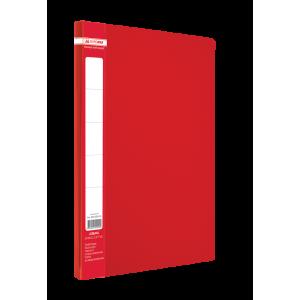 Папка с боковым зажимом пластик (A4) Buromax JOBMAX красный (BM.3401-05)
