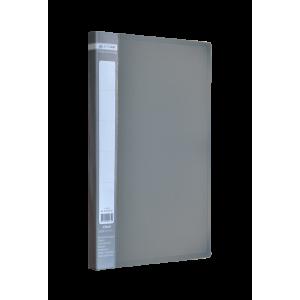 Папка с боковым зажимом пластик (A4) Buromax JOBMAX серый (BM.3401-09)