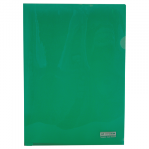 Папка-уголок (А4) 120 мкм глянец зеленая Buromax JOBMAX (BM.3853-04)