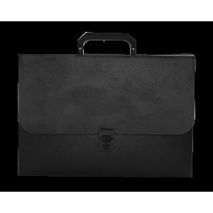 Портфель на застежке пластик 1 отд A4 BUROMAX JOBMAX 35 мм черный (BM.3735-01)