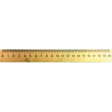 Линейка деревянная 20 см Мицар (103007)