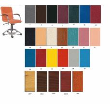Кресло офисное SAMBA GTP WOOD кожзам (черное)