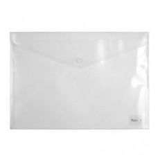 Папка на кнопке пластик (А4) Axent полупрозрачная (D1402-27)