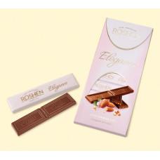 Шоколад Roshen Elegance, темный молочный с дробленым миндалем, 100 гр