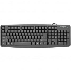 Клавиатура проводная Defender Element HB-520 (45520), PS/2, черная
