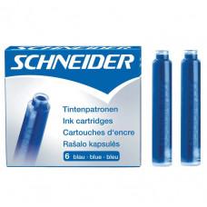 Картридж чернильный короткий Schneider, цвет: синий (6 шт) (S6601)