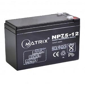 Аккумулятор для ИБП 12V 7.5AH (NP7.5_12) Matrix