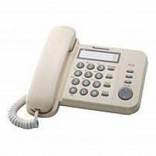 Телефон PANASONIC KX-TS2352UAJ (проводной, кнопки Redial, Flash, Volume, бежевый)