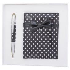 Набор подарочный Langres MONRO (ручка шариковая + зеркальце) черный (LS.122036-01)