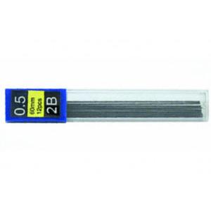 Грифели для механических карандашей 0,5 мм, 2В, Economix, (12 шт), (E10802)