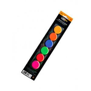 Магниты цветные круглые Leo d/30 мм х 6 шт (L2732701652)
