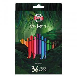 Карандаши цветные 12 цв х 12 шт Koh-I-Noor Dino (3595)