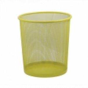 Корзина для мусора метал (решетчатая-круглая) желтая (ZB.3126)