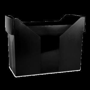Картотека для подвесных файлов Donau пластик163 х 365 х 260 мм черная (7421001-01)