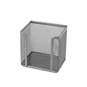 Бокс для бумаги 100 х 100 x 100 мм метал серебро BuroMax (BM.6215-24)