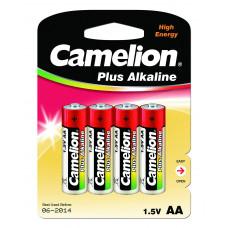 Батарейка AA LR06 Camelion Alkaline Plus (пальчик), (блистер 4 шт)