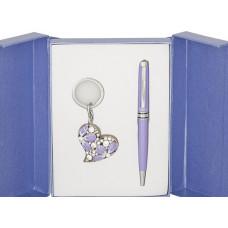Набор подарочный Heart (ручка шариковая + брелок) фиолетовый (LS.122003-07)