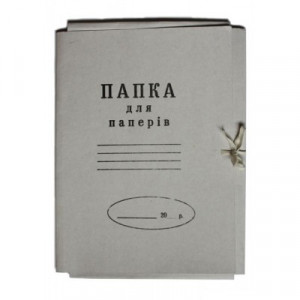 Папка на завязках клееный клапан картон (А4) 0,30 мм (БУМВЕСТ)