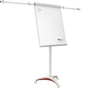 Флипчарт-доска сухо-магнитная, мобильная, с выдвижными планками, 70 х 100 см, 2х3 Про RED (TF18)