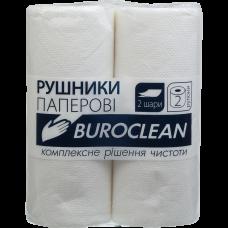 Полотенца рулонные 2-слой Buroclean белые (8,36 м) (2 рул/уп)