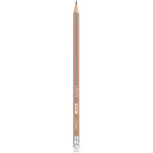 Карандаш чернографитный с ластиком Н Maped Black Peps трехгранный корп ассорти (MP.851725)