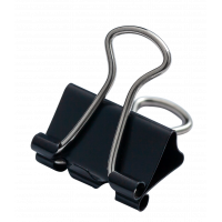 Зажим 15 мм черный BuroMax 12 шт/уп (BM.5306)