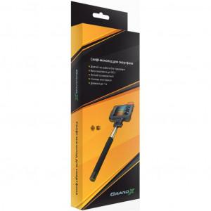 "Монопод для селфи Grand-X Selfi Stick wiht Jack 3,5"" Black (MPGJ3UB)"