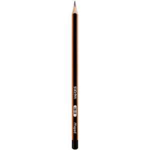 Карандаш чернографитный без ластика 2B Maped Black Peps трехгранный, ударостойкий грифель (MP.850022)