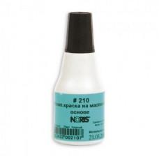 Штемпельная краска Noris 210, 25 мл, на масляной основе, черная