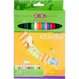 Карандаши цветные 36 цв х 36 шт ZIBI Standard (ZB.2404)