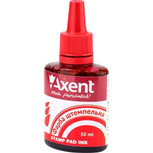 Штемпельная краска Axent, 30 мл, на водной основе, красная (7301-06-A)