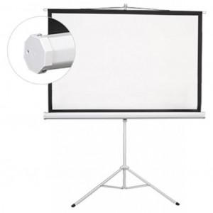 Проекционный экран Lumi мобильный напольный 100 (4:3) 200 x 150 (ESDC100) White Case