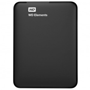 Жесткий диск внешний 2.5 1TB Western Digital Elements (WDBUZG0010BBK-WESN)