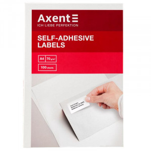 Наклейки Axent (А4/65) 38,1 х 21,2 мм х 100 шт/уп (2469-A)