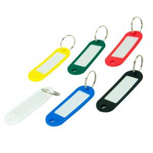 Брелок для ключей пластик со сменным индексом 60 х 20 мм ассорти Buromax (BM.5473-99)