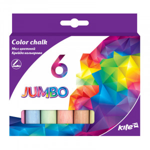 Мел цветной Kite Jumbo 6 цветов (K17-073)