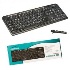 Клавиатура Greenwave Multimedia 305 USB Black (R0004681)