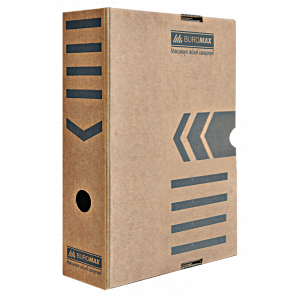 Бокс архивный картон 80 мм 250 х 352 мм BuroMax коричневый (BM.3260-34)
