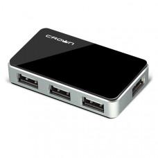 Концентратор USB Crown CMH-B19 BLACK